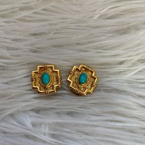 Julie Vos Petit Imperial  Turquoise Earrings